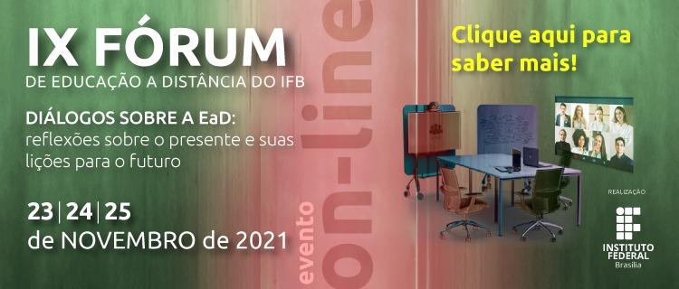 IX Fórum de Educação a Distância recebe resumos até o dia 27